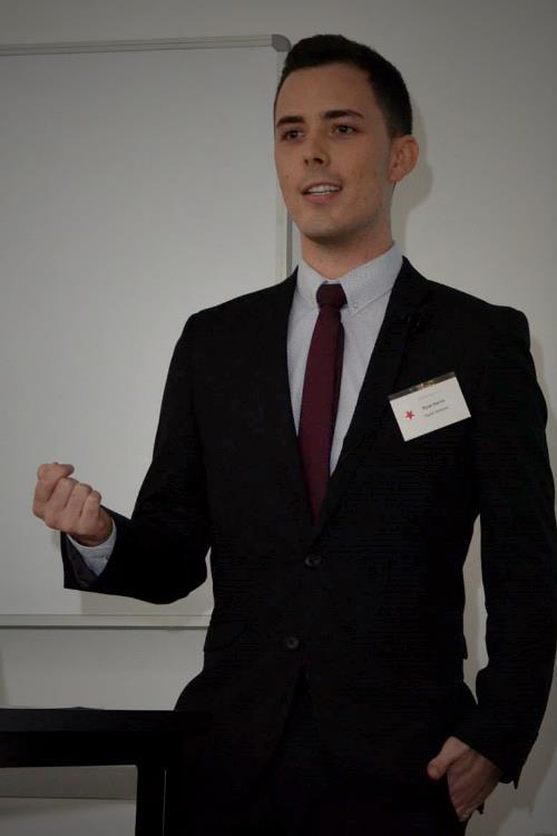 Ryan presenting on email marketing.